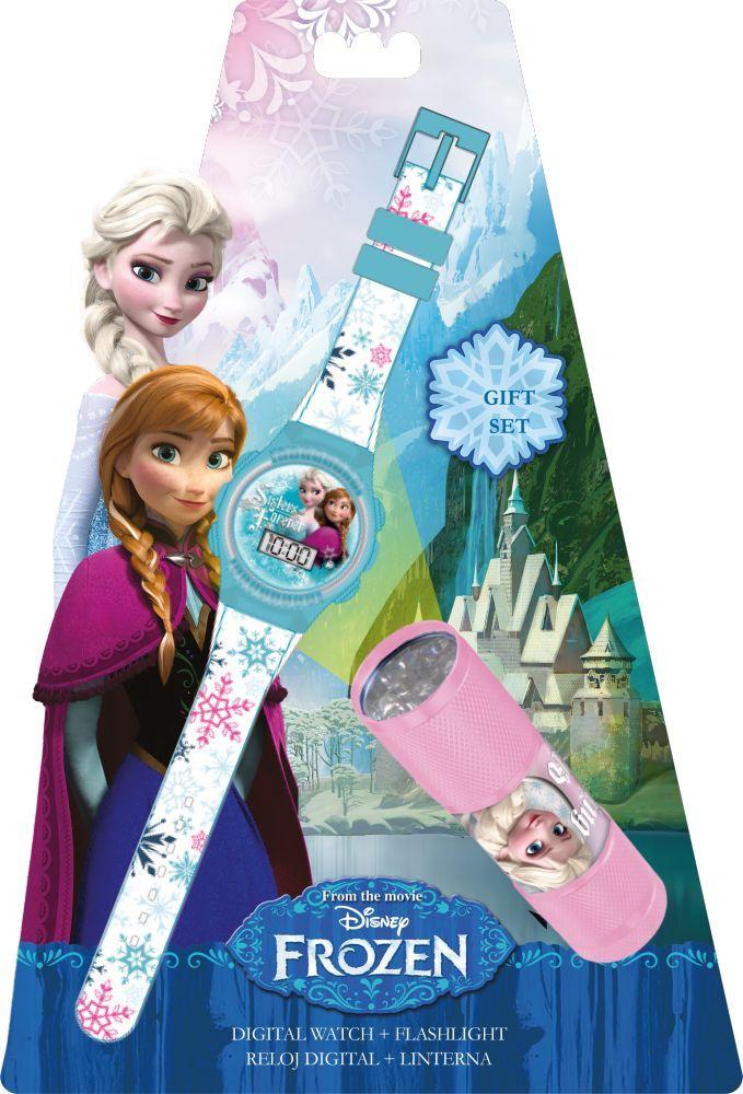 Disney Jégvarázs digitális karóra + LED elemlámpa szett