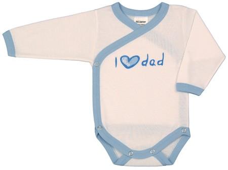 Vicces, feliratos hosszú ujjú body - I love dad