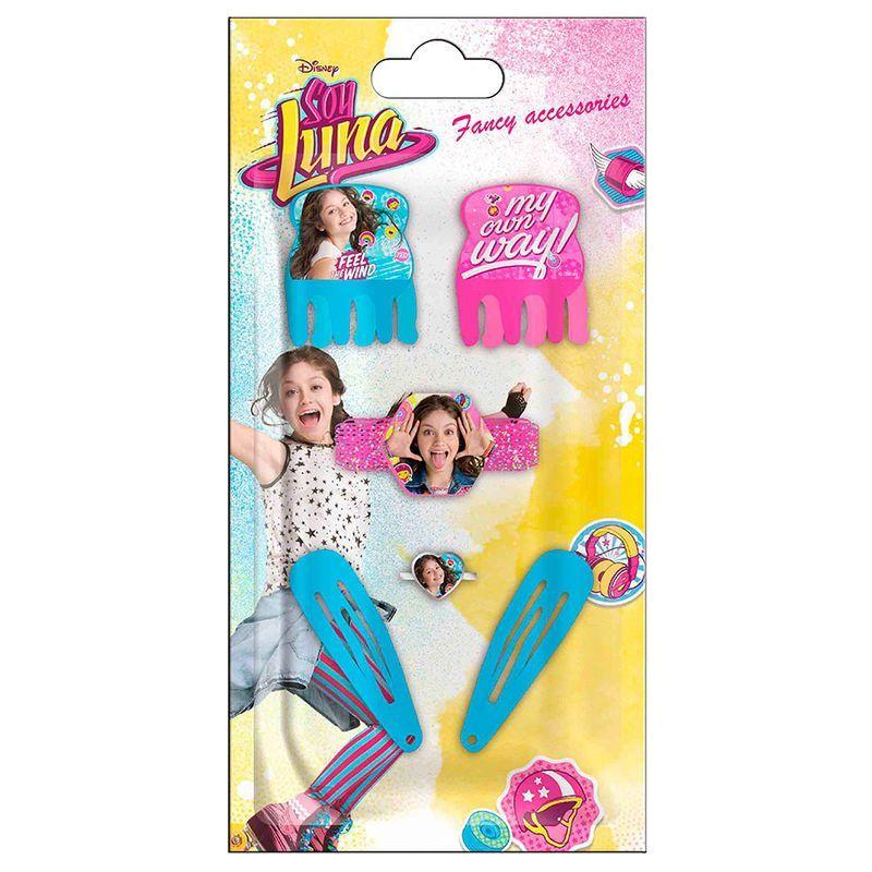 Disney Soy Luna hajcsat, hajgumi, gyűrű szett