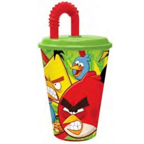 Angry Birds szívószálas pohár