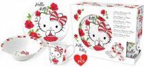 Hello Kitty porcelán étkészlet díszdobozban
