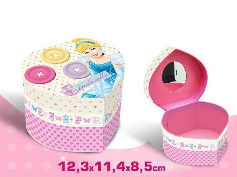 Disney Hercegnők szív alakú ékszertartó doboz