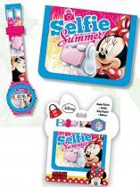 Disney Minnie digitális karóra + pénztárca