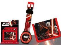 Star Wars digitális karóra + pénztárca szett