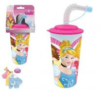 Disney Hercegnők szívószálas pohár 3D