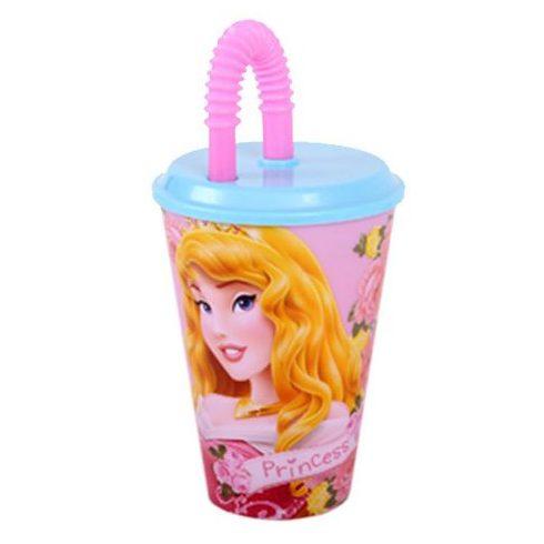 Disney Hercegnők szívószálas pohár