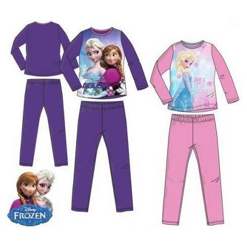 Disney Jégvarázs hosszú ujjú pizsama csillogó mintával - 104 cm-es - UTOLSÓ DARAB