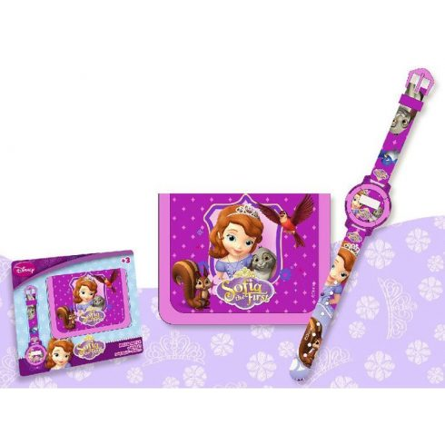 Disney Szófia hercegnő digitális karóra + pénztárca szett