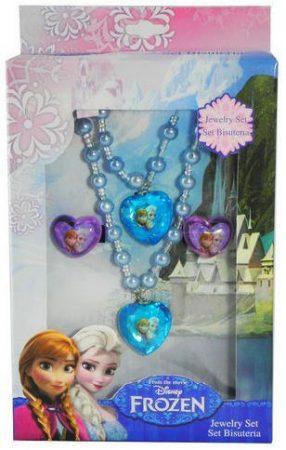 Disney Jégvarázs nyaklánc, karkötő + gyűrű szett