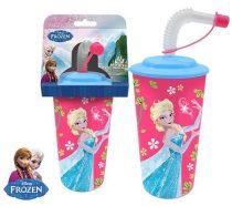 Disney Jégvarázs szívószálas pohár 3D