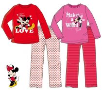 Disney Minnie hosszú ujjú pizsama (98-128 cm)