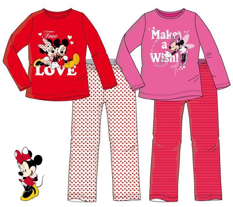 Disney Minnie hosszú ujjú pizsama (98-128 cm) - Mese Bazár - Disney ... 126ef0e2db