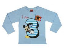 Disney Mickey szülinapos póló - 3 éves