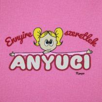 Vicces, feliratos rövid ujjú body - Ennyire szeretlek Anyuci