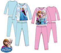 Disney Jégvarázs hosszú ujjú pizsama csillogó mintával (104-128 cm)