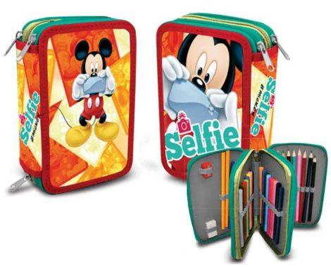 Disney Mickey 3 emeletes töltött tolltartó