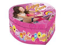 Disney Soy Luna szív alakú ékszertartó doboz