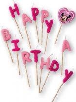 Disney Minnie Happy Birthday gyertya