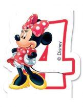 Disney Minnie számgyertya / tortagyertya