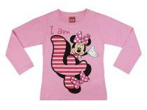 Disney Minnie szülinapos póló - 4 éves