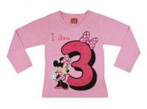 Disney Minnie szülinapos póló - 3 éves