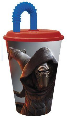 Star Wars szívószálas pohár