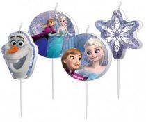 Disney Jégvarázs tortagyertya (4 db-os)