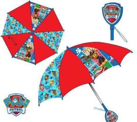 Mancs Őrjárat gyerek esernyő mintás fogantyúval