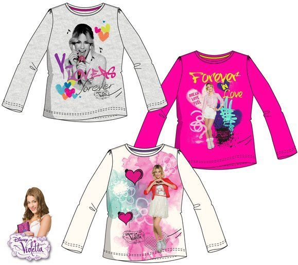 Disney Violetta hosszú ujjú gyerek póló - 116 cm- UTOLSÓ DARAB ... 96328e2ee7