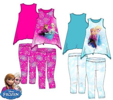 Disney Jégvarázs póló és leggings szett -128-as - UTOLSÓ DARAB