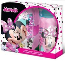 Disney Minnie uzsonnás doboz+alumínium kulacs szett