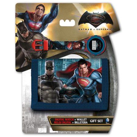 Batman vs Superman digitális karóra + pénztárca szett