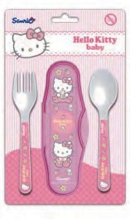 Hello Kitty baba utazó evőeszköz készlet